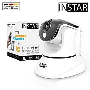 INSTAR IN-6014HD Weiss - WLAN Überwachungskamera - IP Kamera - steuerbar - Innenkamera - Mikrofon - Lautsprecher - Pan Tilt - PIR - Bewegungserkennung - Nachtsicht - Weitwinkel - LAN - RTSP - ONVIF