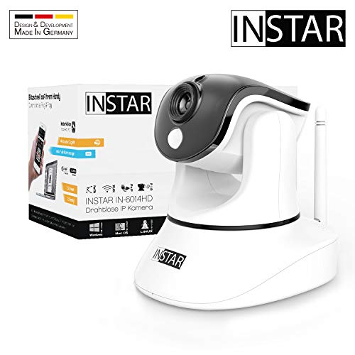 INSTAR IN-6014HD Weiss - WLAN Überwachungskamera - IP Kamera - steuerbar - Innenkamera - Mikrofon - Lautsprecher - Pan Tilt...