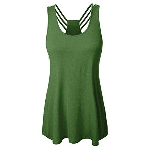 ESAILQ Damen T-Shirts Damen Sommer Uni Basic Kurzarm -