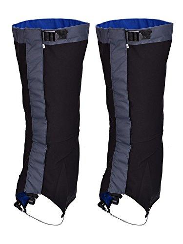 Tuban Polainas Impermeables de Nieve Polainas de Senderismo Escalada Cubiertas de Legging para Protección de Pierna al Aire Libre Senderismo Escalada Caza Trekking (Negro)