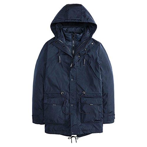 HHY-Winter Freizeitaktivitäten Baumwolle, die in der lange schlanke junge Mann Baumwolle zwei Stück, Blau, XL
