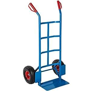 TecTake® Profi Sackkarre Transportkarre Stapelkarre 200kg belastbar blau
