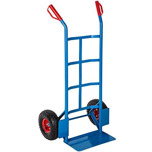 TecTake CARRETILLA PROFESIONAL CARRITO CARGA - varios modelos - (Carretilla para transporte azul | 402384)