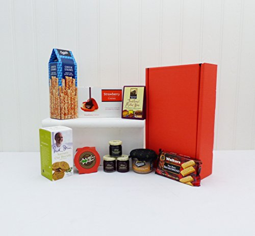 Surprise Nibbles in a Red Gift Box Food Hamper - Gift Ideas for Mum, Valentines, Mother's Day, Birthday, Anniversary, Business gifts, Corporate, Dad, Fathers Day, him, her