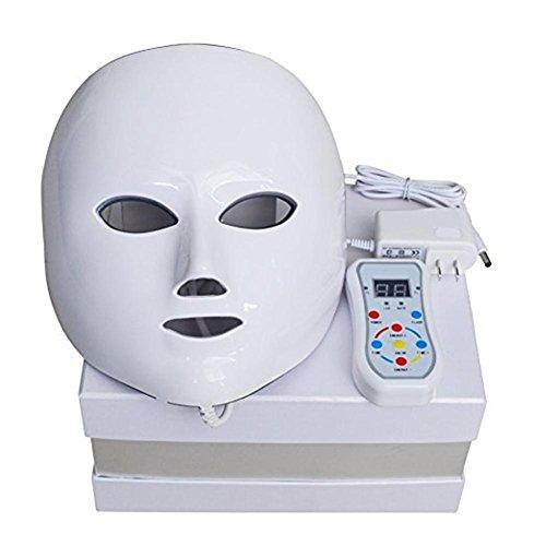 7 Couleurs LED Lumière Visage Masque Avancée Photon Thérapie Système Facial Peau Se soucier & Beauté Masque Instrument Masque Dispositif (7 couleurs, Blanc)