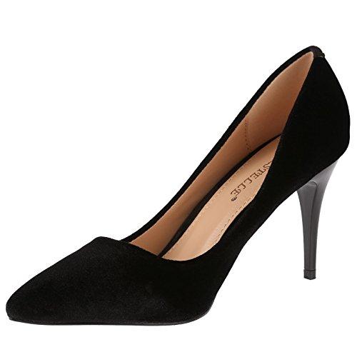 ByPublicDemand Vivienne Femme Talons hauts Chaussures de cour Noir