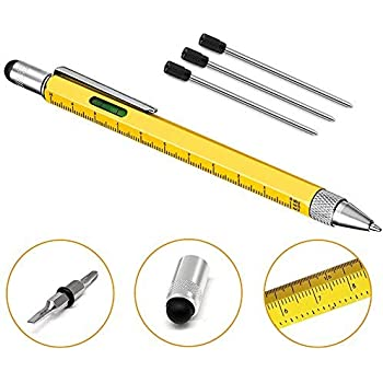 Spirit Level Pen - 6 in 1 Pen - Multi-Tool - Stylus, Ruler +