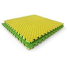 Suelo goma eva tatami puzzle. Adecuado como suelo para gimnasio o como suelo puzzle protector para bebé, 1m x 1 m x 25 mm. Varios colores.