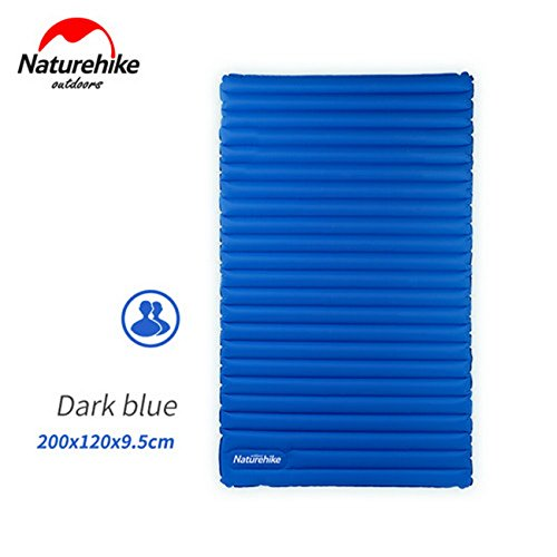 NatureHike aufblasbare Matratze für 2~3 Person 200x120x9.5cm bewegliche Luft Pad NH17T120-C