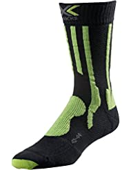 X-Socks Función Calcetines trekking Light y Comfort, primavera/verano, unisex, color Charcoal/Lime, tamaño 35/38