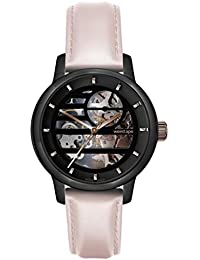 Weird Ape Women's Watch – Rosalind – Black Rose Gold Dial/Nude Leather Strap Skeleton Watch