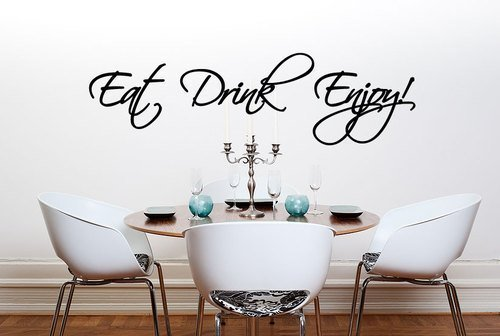 Eat Drink Enjoy Kitchen Dining Room Wall Sticker Quote Part 45