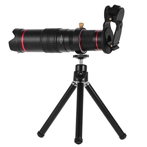 Docooler Tragbares Clip-On-Kameraobjektiv-Kit Teleobjektiv mit 22fach-Zoom Handy-Zoom-Teleskop Einstellbare Smartphone-Objektiv-Unterstützung Nackte Augen mit Stativ