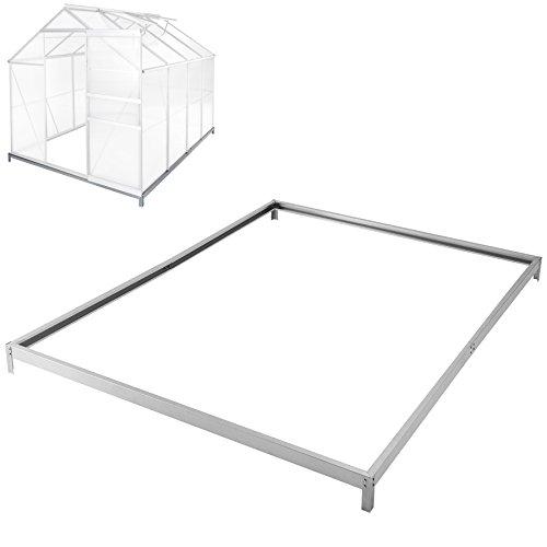 Galleria fotografica TecTake Base per serra de giardino acciaio zincato 250x185 cm fondamenta terra esterno
