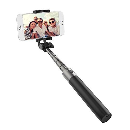 """ECANDY Bluetooth Palo Selfie monópode / """"Monopod Selfie Stick"""" extensible de aluminio, con función de disparo a distancia para Iphone Samsung Smartphone Android"""