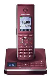 Panasonic KX-TG8561GR Schnurlostelefon mit Anrufbeantworter (4,6 cm (1,8 Zoll) Display) rot
