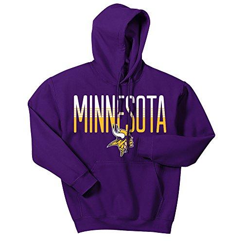 Zubaz Herren Kapuzenpullover NFL Denver Broncos Logo, Herren, Men's NFL Gradient Logo Hoodie, violett, Medium