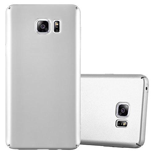 Preisvergleich Produktbild Cadorabo Hülle für Samsung Galaxy Note 5 - Hülle in Metall Silber – Hardcase Handyhülle im Matt Metal Design - Schutzhülle Bumper Back Case Cover