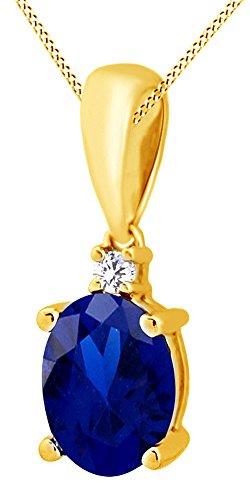 AFFY Herren Damen Unisex Kinder - Gold 9 Karat (375) Gelbgold (10 Karat) Oval Topas