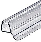 Gedotec Glastürdichtung Dusche Lippendichtung Duschtür-Dichtung für Duschkabinen 135° zum Abdichten vom Boden | 2000 mm | PVC Transparent | Wasserabweiser für Glasdicke 8-10 mm | 1 Stück