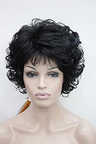 Costumes Bouclés Noir Costume Wig - Kalyss Perruques pour Femmes Court Bouclé Synthétique