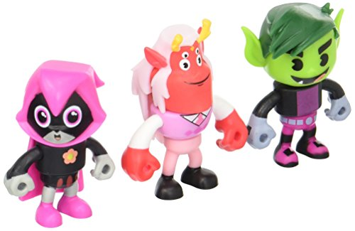 n Titans Go! Mini Trigon, Happy Raven & Beastboy Exclusive Figures, 3er-Pack ()