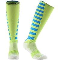 Samson Hosiery ® Deporte Stripe Print Funky Novedad Moda Regalo Calcetines de fútbol RUGBY deportes y Casual rodilla alta calcetines para hombres mujeres niños unisex