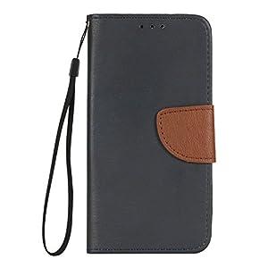 Huawei Mate 9 Hülle, BONROY® Retro contrast color leather case für Huawei Mate 9 Ledertasche Schutzhülle Case PU Leder Wallet Tasche Brieftasche PU Lederhülle Flip Hülle im Bookstyle mit Kartenfach für Huawei Mate 9