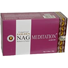 180 gms Box of GOLDEN NAG MEDITATION Agarbathi Incense Sticks - in stock and shipped by Busy Bits by Golden Nag