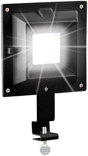 Lunartec Dachrinnen LED: Solar-LED-Dachrinnenleuchte, 20 Lumen, 0,2 Watt, Licht-Sensor, schwarz (Dachrinnen-Leuchte)