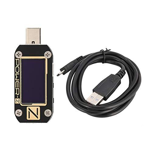 Candybarbar Power-Z USB-PD-Tester KM001C Digitalvoltmeter Amperemeter Voltmeter Welligkeit Dual-Typ-C-Test OLED-Ladegerät LAB Professional