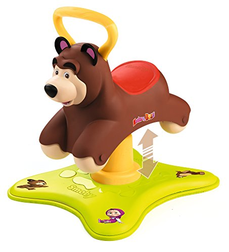 Smoby Toys - 721200 - Masha et Michka, Rocking Porteur, Porteur Evolutif 2 en 1