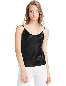 Lilysilk Top Mujer Tirantes 100% Seda Natural DE 19 mm Camiseta Tirantes Para Niña Camisola Sencilla Camisa Tirante...
