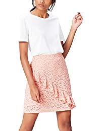 FIND Women's Skirt in Lace with Asymmetrical Ruffle