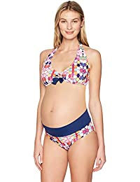Prego Women's Maternity Kaleidoscope Roll Waist Bikini
