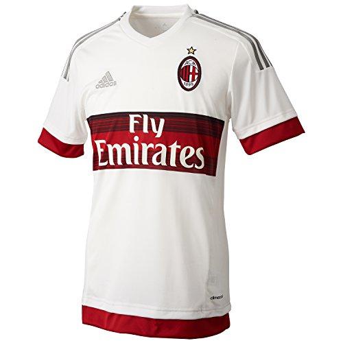adidas Herren Trikot AC Mailand Replica Spieler-Auswärts Core White/Victory Red S04/Ch Solid Grey, XXL -