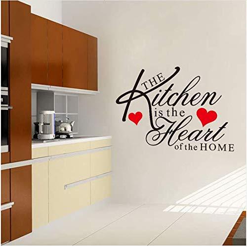 Newberli Die Küche Ist Das Herzstück Des Home Quote Wandtattoo Vinyl Wandaufkleber Küche Dekoration (Rose Rote Herzstück)