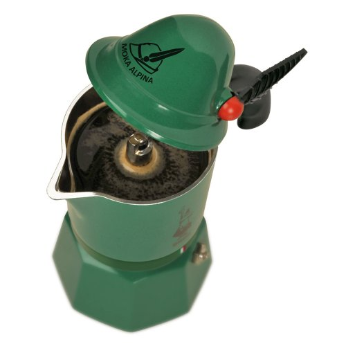 41V7TEqwttL. SS500  - Bialetti–2762–Alpina–Espresso Maker for 3Cups Aluminium Green