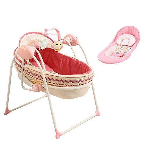 ALUK- Cuna eléctrica Multifuncional/Cuna/Coctelera Bebé Recién Nacido Coctelera automática Inteligente Cama para Dormir (Color : Package B)