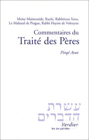 Commentaires du traité des Pères par Moïse Ben Maimoun