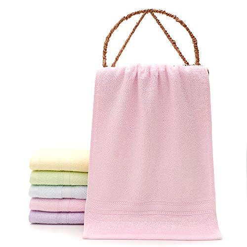 Redhj Barra de Toalla toallero Toalla Anillo Toallas para niños Empleados Regalos Regalos Toallas para niños Fibra de bambú Suave, Rosa, 25 × 50
