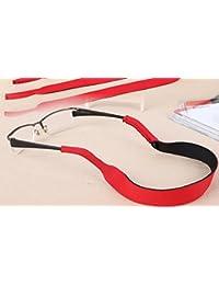 Gafas de sol gafas banda correa cable cadena, rojo