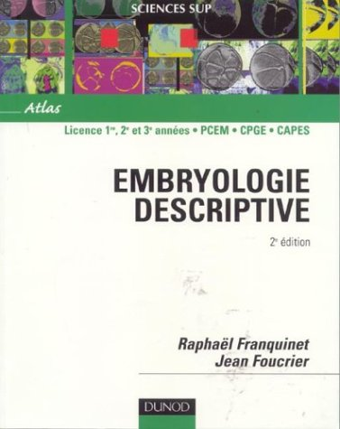 Atlas d'embryologie descriptive