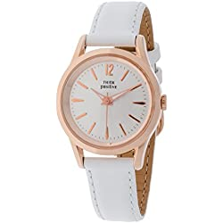 THINKPOSITIVE, Womens watch, Model SE W 130 R Big Milano,Imitation leather strap, Unisex, Color White