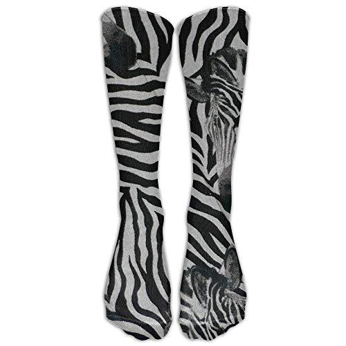 Zebra Stripesfashion Funny Colorful Casual Knee High Socken for Men Women Outdoor Sport Running Football