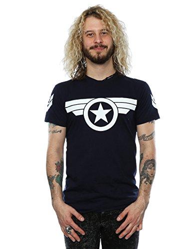 Marvel Herren Captain America Super Soldier T-Shirt Deep Navy