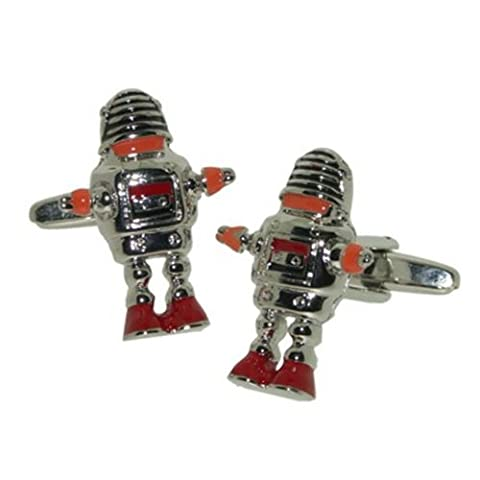 Wow Cufflinks Mens Retro Sci Fi Robot Cufflinks in Box. Birthday Gift for Dad, Grandad, Uncle, Brother, Son, Office worker, Uni,