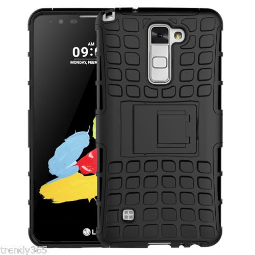 FABZONE Back Cover for LG G3 Stylus (D690) Back Cover Hybrid Kick Stand Case - Black  available at amazon for Rs.179