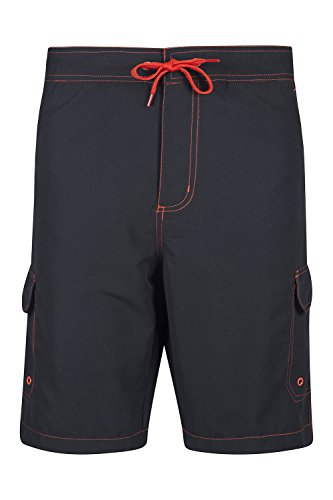 mountain-warehouse-ocean-mens-boardshorts-swim-surf-pool-beach-summer-shorts-black-large