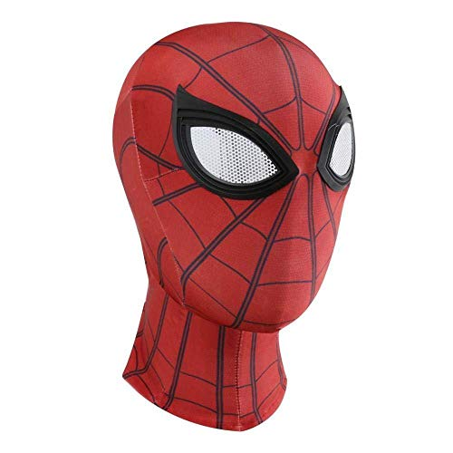 Mädchen Teenager Kostüm Spiderman - 3D Spiderman Masken Spider Man Cosplay Kostüme Lycra Maske Superheld Linsen Halloween Birthday Party Fancy Dress Prop,Red